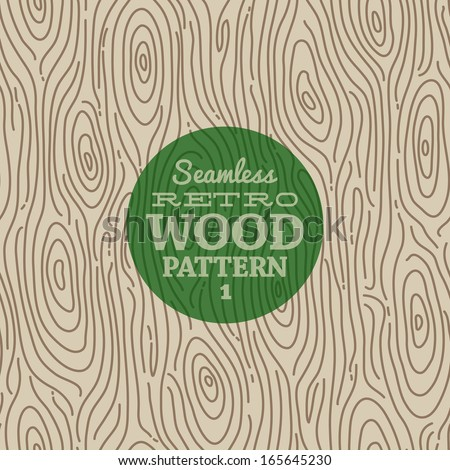 Retro wood seamless background - stock vector