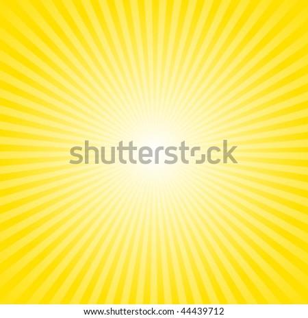 Retro Yellow and Orange Radial Sunburst Vector - stock vector