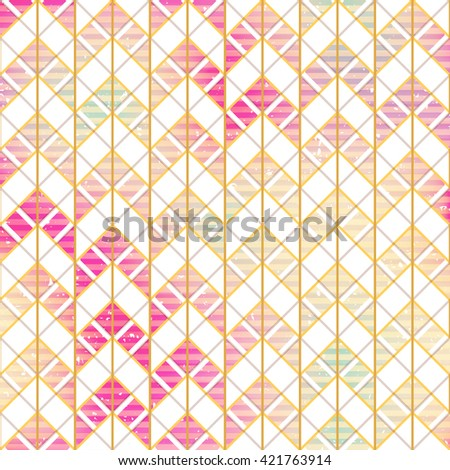 Retro zigzag seamless pattern - stock vector