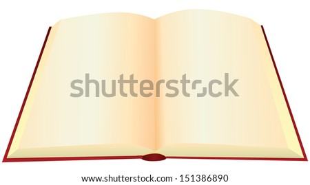 Reversal of an old book with blank pages. Vector illustration. - stock vector