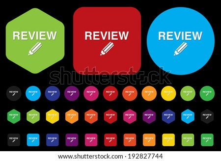 Review icon - stock vector