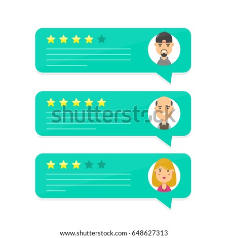 review stock images royalty images vectors shutterstock review rating bubble speeches vector modern cartoon character illustration avatar icon design concept of