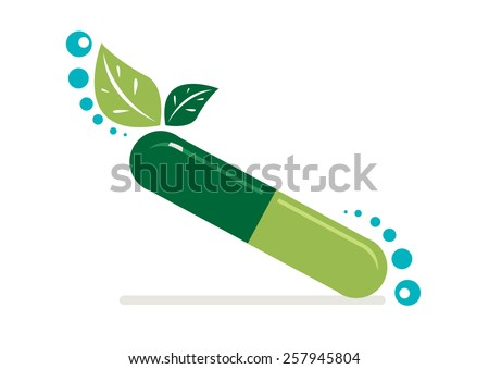 Revitalizing supplement made from nature's herbs and minerals. Editable Vector EPS10 and jpg. - stock vector