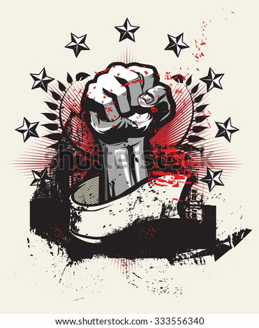 Revolution and protest - stock vector