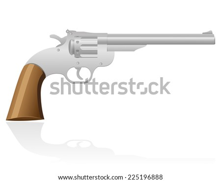 revolver the wild west vector illustration isolated on white background