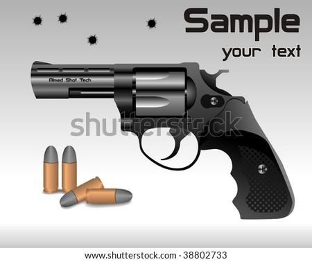 revolver vector poster - stock vector