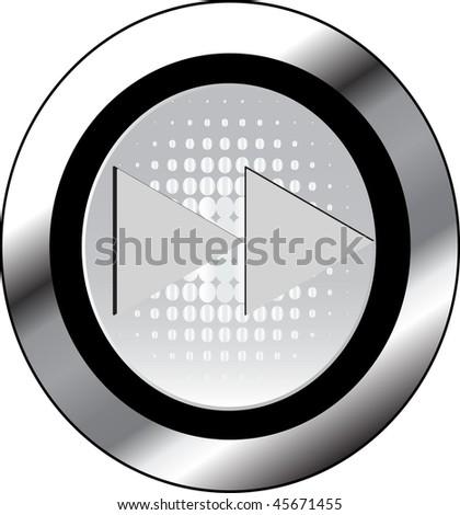 rew sign icon button - stock vector