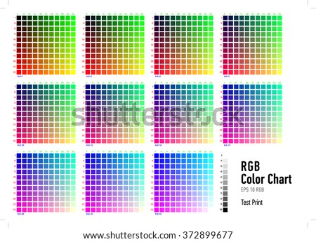 Rgb Color Chart. Menu Binary Color / Trading Warrants Vector Chart