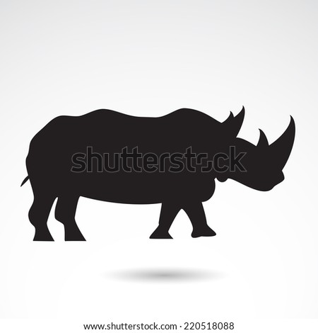 Rhino icon isolated on white background. VECTOR art. - stock vector