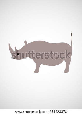 rhino. isolated on white background. design of vector illustrations. - stock vector