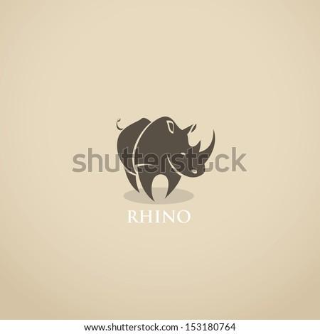 Rhino sign - vector illustration - stock vector