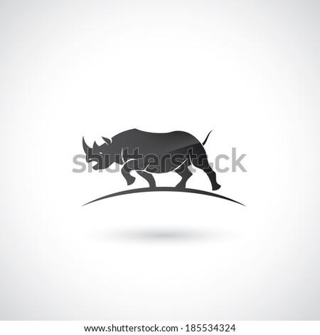 Rhino symbol - vector illustration - stock vector