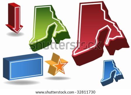 Rhode Island - stock vector