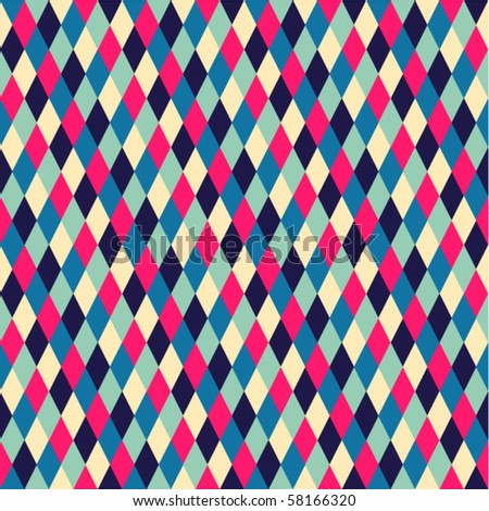 rhombic  seamless pattern - stock vector
