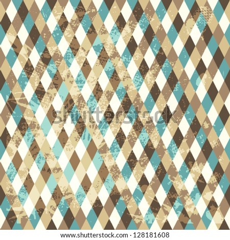 Rhombic seamless pattern. Copy square to the side and you'll get seamlessly tiling pattern which gives the resulting image ability to be repeated or tiled without visible seams. - stock vector