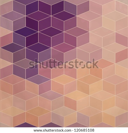 Rhombic seamless pattern with flow of colors effect. Seamless pattern can be used for wallpaper, pattern fills, web page background,surface textures. Gorgeous seamless background eps10 - stock vector