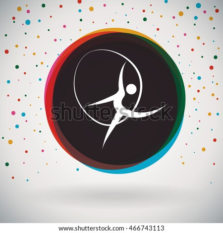 Rhythmic Gymnastics - Colorful icon and sports background