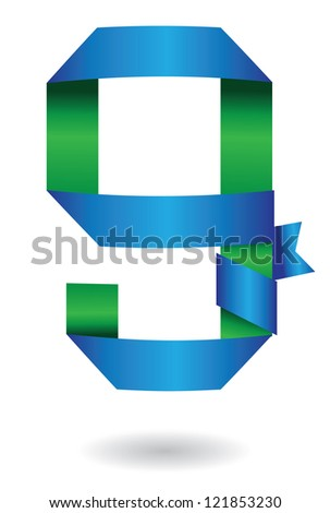 Ribbon Alphabet Symbol Icon Lower Case Stock Vector Royalty Free