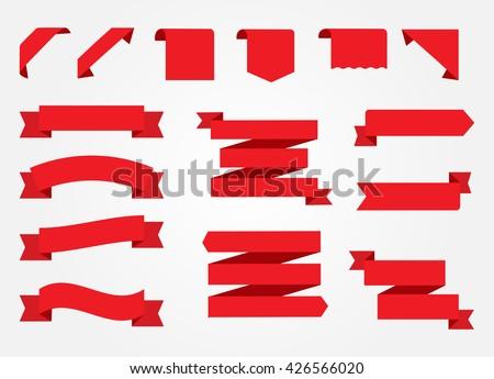 ribbon banner set ribbons vector illustration stock vector 426566020 rh shutterstock com vector ribbon banner black and white vector ribbon banner png