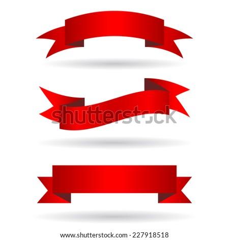 Ribbon banners - stock vector