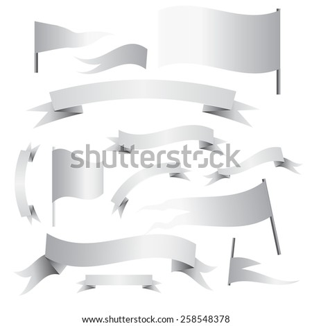 ribbon banners - stock vector