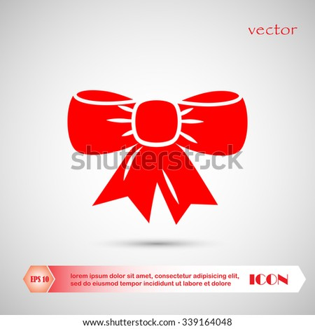 Ribbon Bow Vector  - stock vector