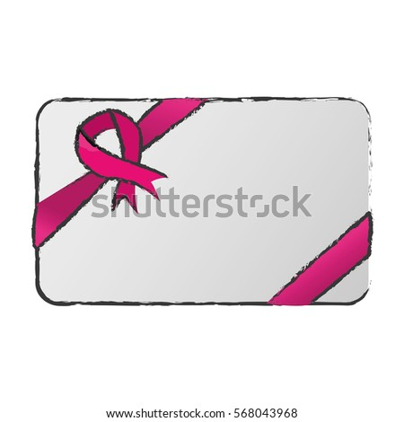 ribbon breast cancer awareness icon image vector illustration design