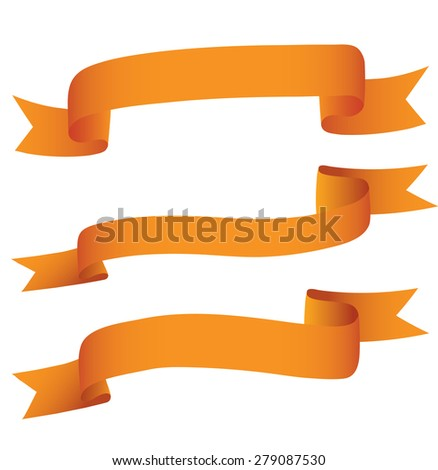 Ribbon collection. - stock vector