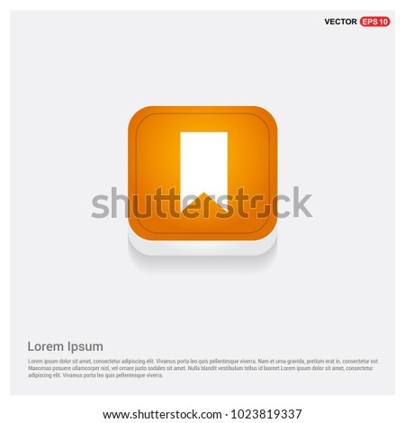 Ribbon Icon Orange Abstract Web Button
