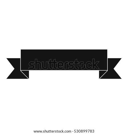 Simple ribbon vector