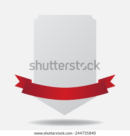 ribbon on banner - stock vector