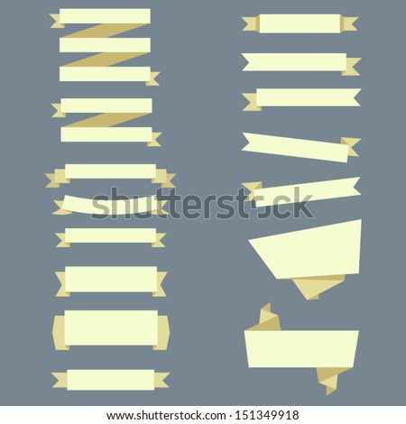 ribbon set - stock vector