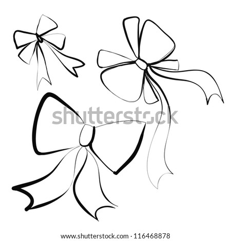 ribbon sketch vector - stock vector