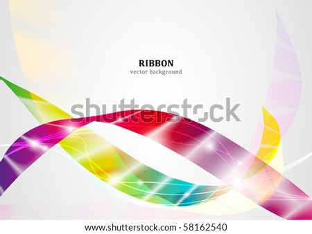 Ribbon vector background series