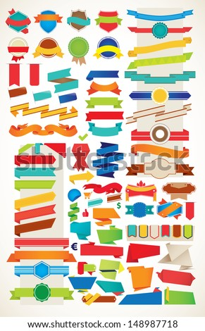 Ribbon Vector Collection - stock vector