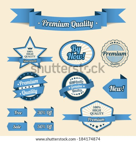 Ribbons - stock vector