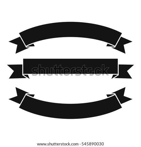 ribbons icon simple illustration ribbons vector stock vector 2018 rh shutterstock com vector ribbon bow vector ribbons and banners