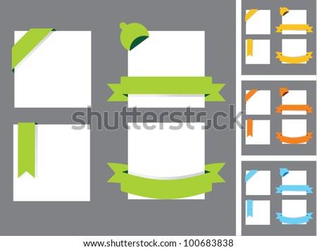 Ribbons set. - stock vector