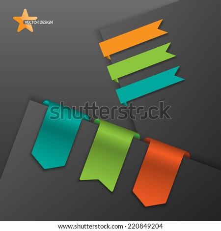 Ribbons Set,vector - stock vector
