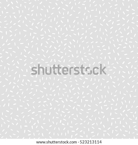 Rice background. Abstract vector texture for your design (wrapping paper, fabric, wallpaper). White rice on light gray background. Seamless pattern with scattered rice seeds.
