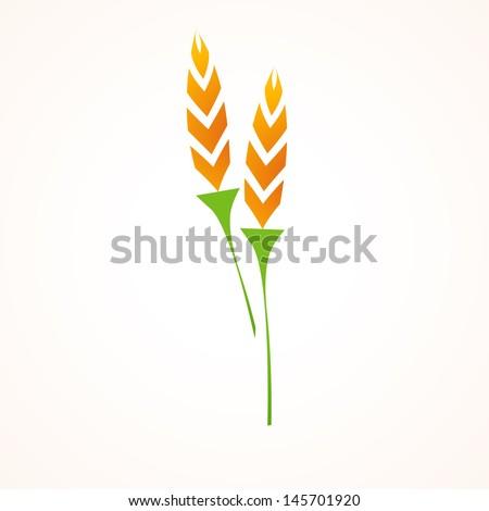 rice  icon - stock vector