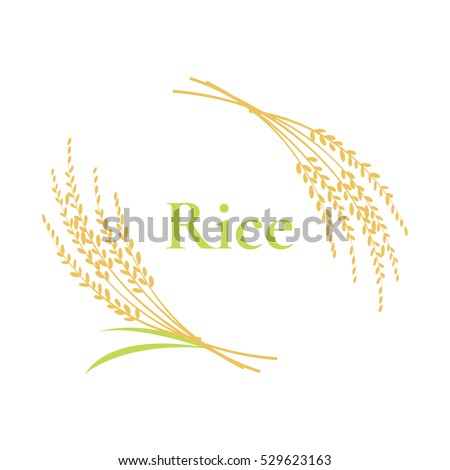 rice logo design on white background, vector