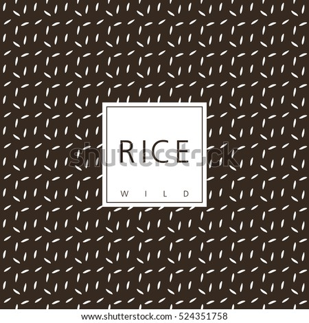 Rice package design element. Template. Seamless pattern - swatch included.