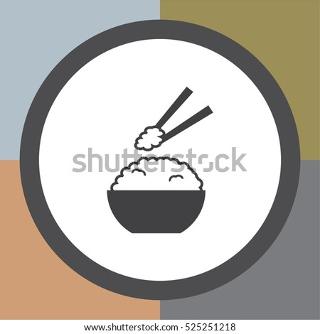 Rice vector icon. Ramen sign. Asian food symbol