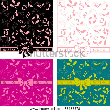 rich woman's stiletto collection - stock vector