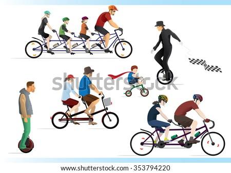 Ride a bike part 2. Go green. - stock vector