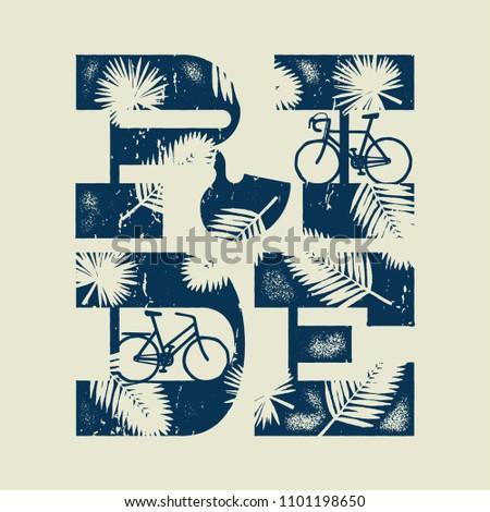 stock-vector-ride-bold-typography-tropic
