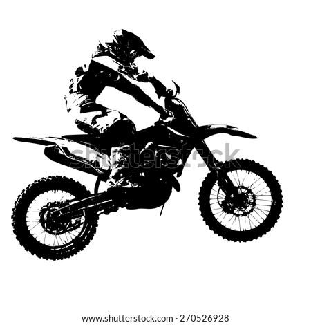Motocross Silhouette Vector