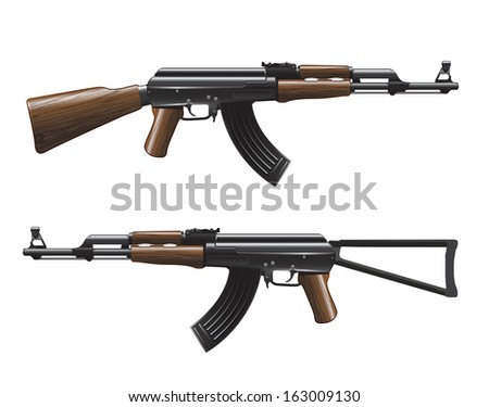 Vector Arms Ak47 Rifle Ak47 Vector Illustration