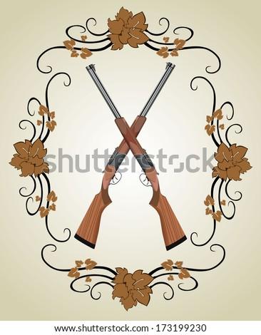 rifle vector  - stock vector
